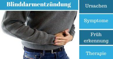 Blinddarmentzündung - Ursachen, Symptome, Früherkennung und Therapie