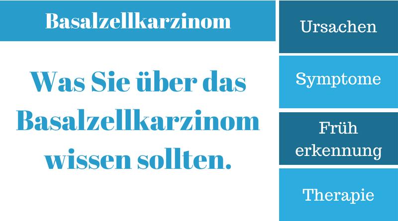 Basalzellkarzinom – Krankheitssymptome, Ursachen, Früherkennung und Therapie