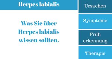 Was ist Herpes labialis?