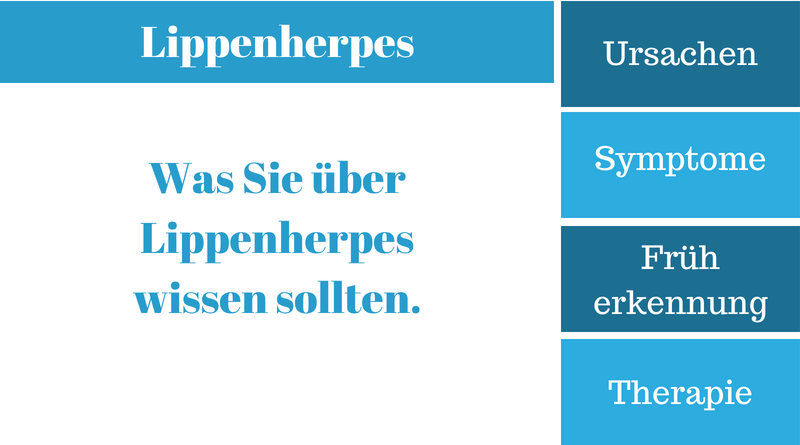 Lippenherpes Ursachen & Symptome