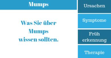 Mumps – Krankheitssymptome, Ursachen, Therapie und Behandlung