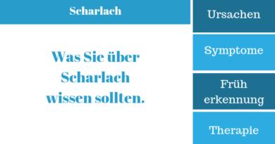 Scharlach – Krankheitssymptome, Ursachen, Therapie und Behandlung